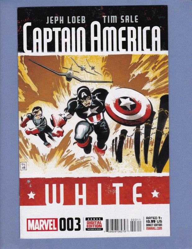Captain America White Lot #0 #3 #4 Marvel Comics