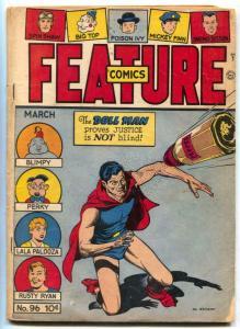 Feature Comics #96 1946- DOLL MAN- Golden Age VG