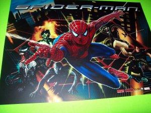 Spider-Man Pinball Machine Translite Original 2008 NOS Marvel Comics Art Venom