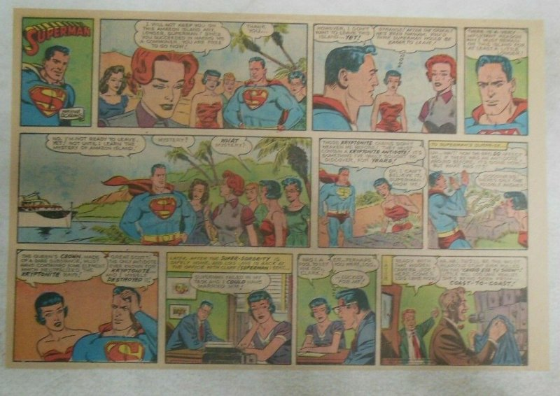 Superman Sunday Page #1136 by Wayne Boring from 7/23/1961 Size ~11 x 15 inches