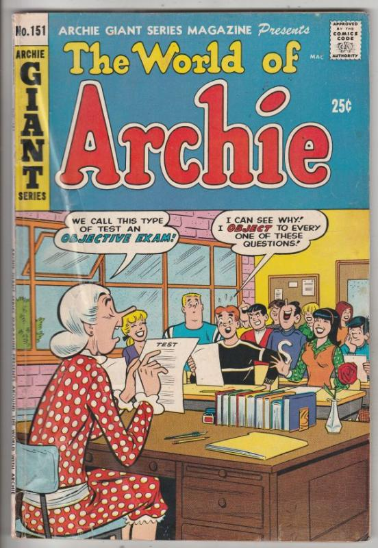 Archie Giant #151 (Feb-68) VG/FN Mid-Grade Archie, Betty, Veronica, Reggie, J...