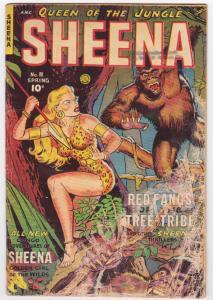 SHEENA #11 1951-FICTION HOUSE-WILD GORILLA COVER