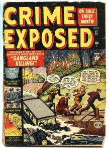 Crime Exposed #13 1952- Golden Age-last issue-Pre-code crime