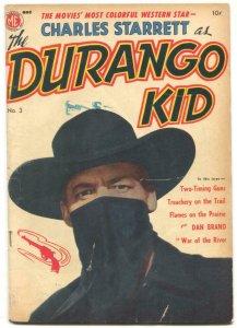 Durango Kid #3 1950- Frazetta story- Charles Starrett photo cover VG