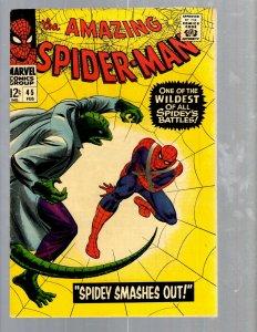 Amazing Spider-Man # 45 VF- Marvel Comic Book Lizard Vulture Goblin Scorpion TJ1