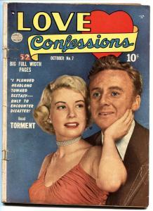 Love Confessions #7-1950-Quality-Golden Age Romance Comic-Van Johnson
