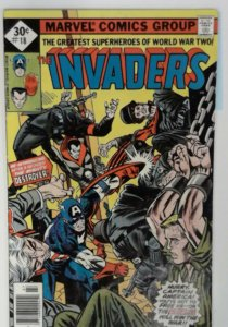 THE INVADERS 18 FN+  1977  Marvel Comic Comics book Captain America Sub-mariner