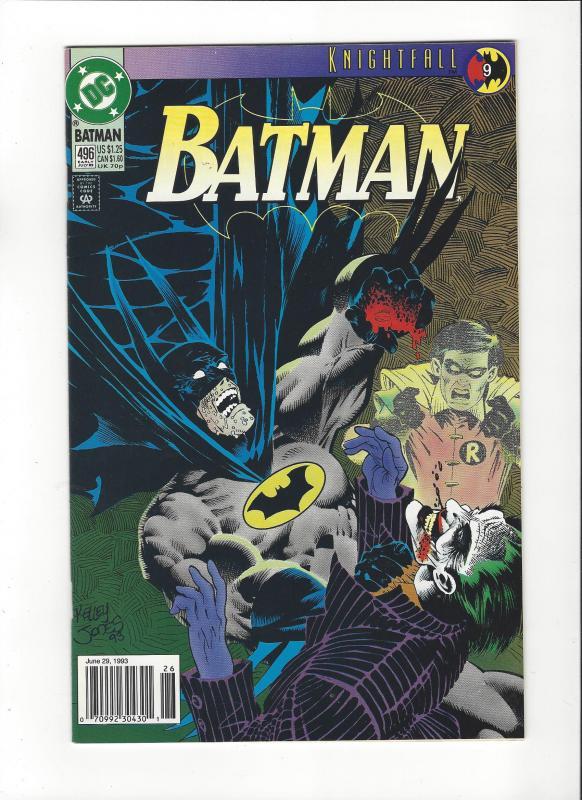 Batman #496 Knightfall Pt 9 Joker Cover  NM