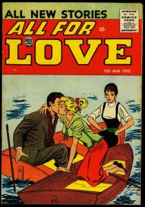 All For Love #6 1958- Silver Age Romance- Love Triangle cover FN