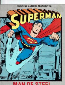 Superman Man Of Steel Comic File Magazine Spotlight DC Comic Book Van Hise J146