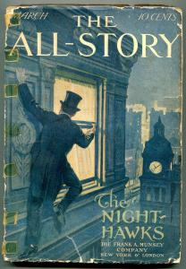 The All-Story Pulp March 1911- Night Hawks- Rare FAIR