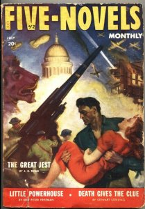 FIVE NOVELS MONTHLY-JULY 1942-ADVENTURE-PULP-WASHINGTON DC ATTACK