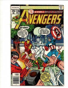 Avengers # 170 FN Marvel Comic Book Hulk Thor Iron Man Captain America BJ1