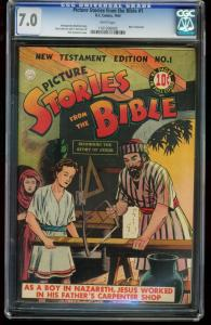 PICTURE STORIES FROM THE BIBLE #1-CGC 7.0-DC-1944-SOUTHERN STATES 1161206005