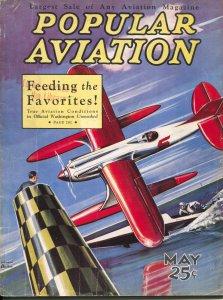 Popular Aviation 5/1932-H.-R. Bollin air race cover-stunt flyer-VG
