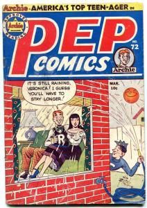 Pep Comics #72 1949- Archie- Nevada Jones- Katy Keene Al Fagaly VG