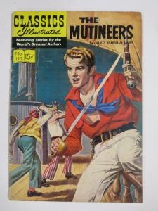 CLASSIC ILLUSTRATED #122 (G+) THE MUTINEERS (1ST Edition, HRO=123) Sept 1953