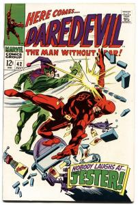 DAREDEVIL #42-1968-MARVEL SILVER-AGE-HIGH GRADE COPY