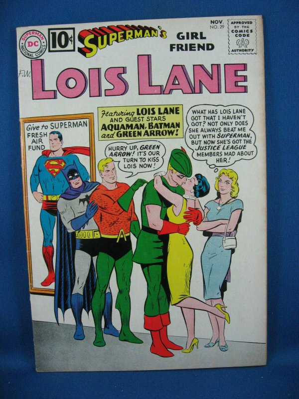 Superman Girlfriend LOIS LANE 29 F+ Green Arrow Aquaman Batman 1961