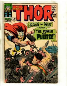 Thor # 128 VG/FN Marvel Comic Book Loki Odin Sif Avengers Hulk Iron Man GK4