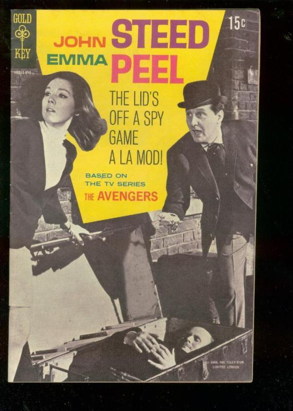AVENGERS #1 1968-GOLD KEY-TV-DIANA RIGG PHOTO COVER ISS VF