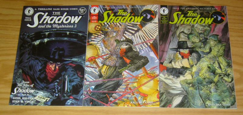 the Shadow #1-2 VF/NM complete series + mysterious 3 one-shot - dark horse comic