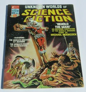 Unknown Worlds of Science Fiction #6 FN/VF 1975 Magazine Crucifixion Cover Weird