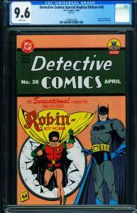 DETECTIVE COMICS Replica Edition #38-CGC 9.6- 1st appearance of ROBIN-1280483004