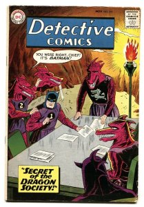 DETECTIVE COMICS #273 BATMAN DRAGON SOCIETY COVER 1959 VG+