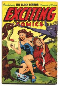 EXCITING #56-1947-NEDOR-ALEX SCHOMBURG SHARK COVER-JUDY OF THE JUNGLE