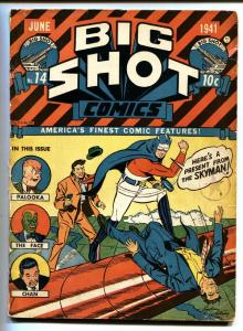 BIG SHOT #14 1941-Skyman-1st appearance of SPARKY WATTS-comic book