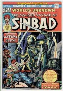 WORLDS UNKNOWN #8, FN+, Golden Voyage of Sinbad, 1973, more Horror in store