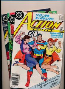 Lot of 3-DC Action Comics #597/599/600 SUPERMAN FINE/VERY FINE (SRU138)