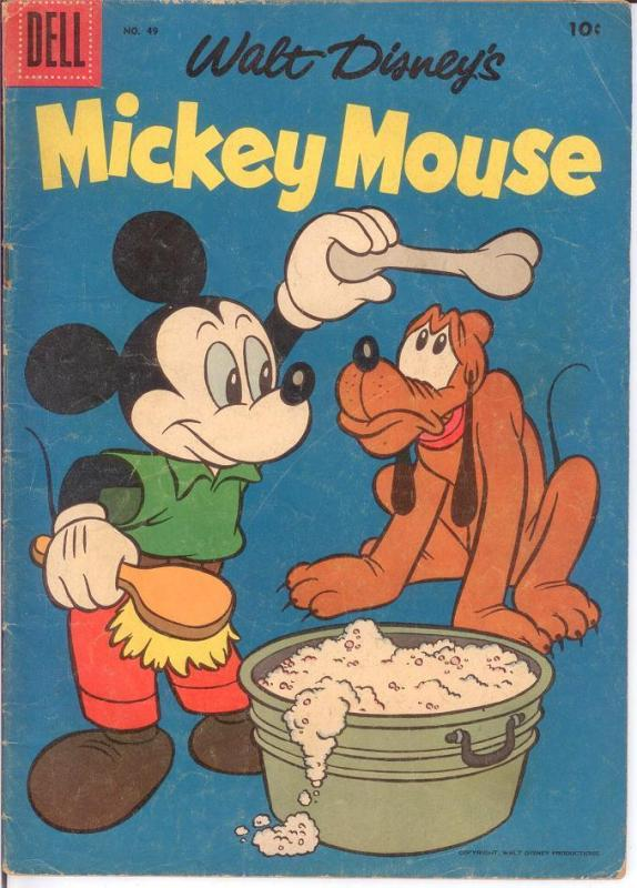 MICKEY MOUSE 49 GOOD Sept. 1956 COMICS BOOK