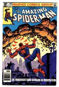 AMAZING SPIDER-MAN #218 comic book-1981-MARVEL-nm-