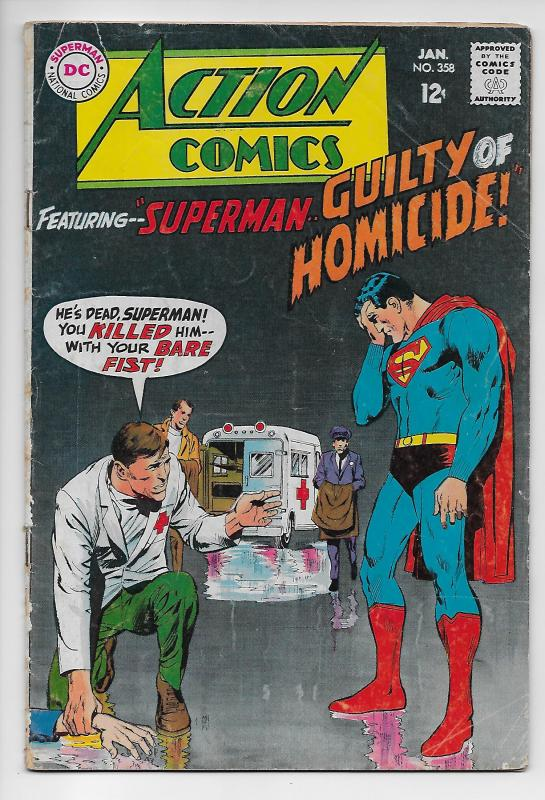 Action Comics #358 - Superman / Neal Adams Cover (DC, 1968) - VG