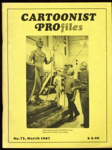 CARTOONIST PROFILES #73-1987-PRINCE VALIANT-very good VG