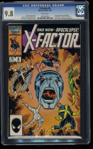 X-Factor (1986) #6 CGC NM/M 9.8 White Pages 1st Apocalypse!