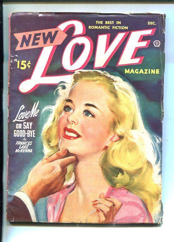 NEW LOVE-DEC 1948-ROMANTIC PULP FICTION- PIN-UP GIRL COVER-GLOSSY-vg/fn