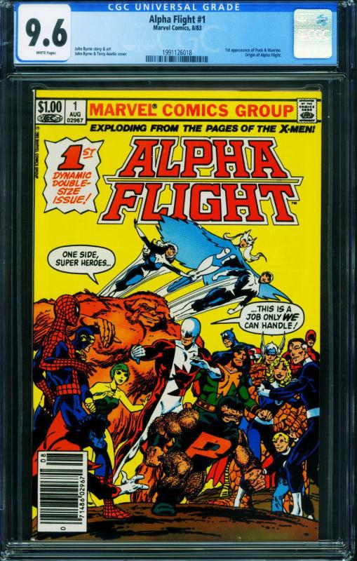 ALPHA FLIGHT #1 CGC 9.6 MARVEL COMICS-FIRST ISSUE 1991126018