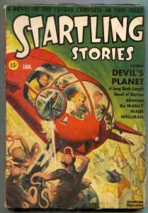 Startling Stories Pulp July 1942- Devil's Planet- Asimov FN-