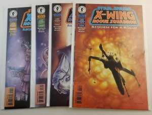 Star Wars X-Wing Squadron Requiem For A Rogue #1-4 Complete Set VF/NM Dark Horse