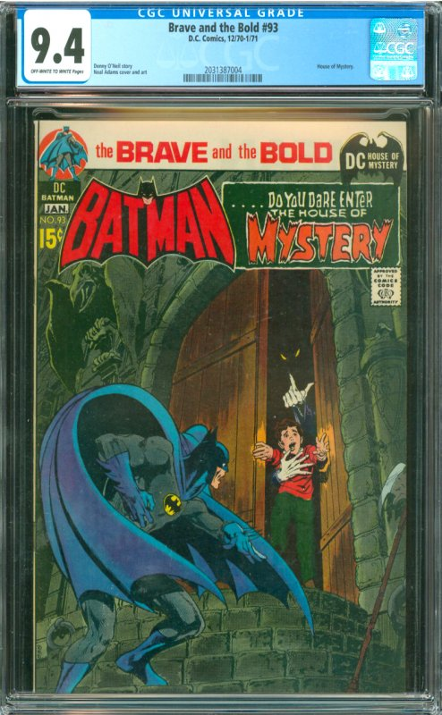 Brave and The Bold #93 CGC Graded 9.4 House of Mystery