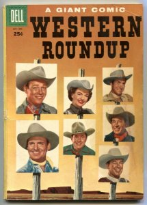 Western Roundup #12 1955- Gene Autry- Johnny Mack Brown VG