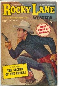 Rocky Lane Western #46-1953-Fawcett- B-Western movie star photo cover-FN