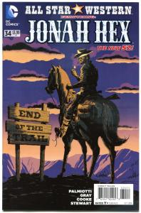 ALL STAR WESTERN #34, NM, Jonah Hex, Justin Gray, 2011, more in store