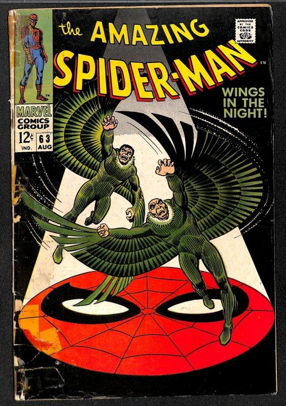 Amazing Spider-Man #63 GD/VG 3.0 Vulture!