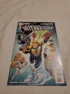 Justice League International 1 Near Mint- Cover by Aaron Lopresti