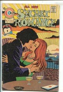 Secret Romance #33 1974-Charlton- sunset cover-spicy art-VG
