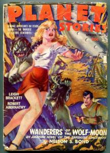 Planet Stories Pulp Spring 1944- Graham Ingles cover- Wanderers of the Wolf Moon